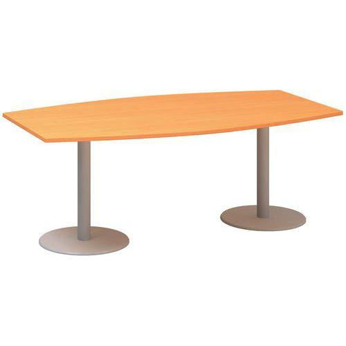 Alfa Office Konferenční stůl Alfa 400, 200 x 110 x 74,2 cm, dezén buk Bavaria - Prodloužená záruka na 10 let