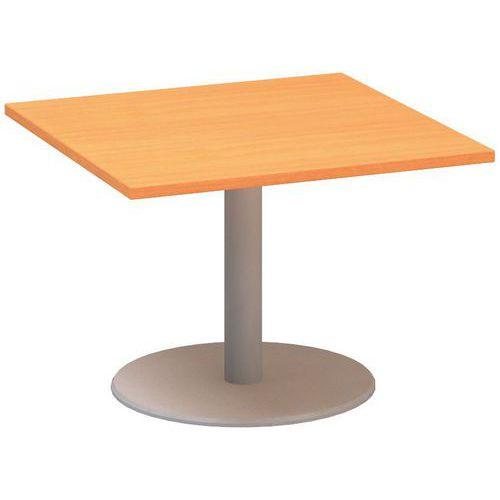 Alfa Office Konferenční stůl Alfa 400 s šedým podnožím, 80 x 80 x 50,7 cm, dezén buk Bavaria - Prodloužená záruka na 10 let