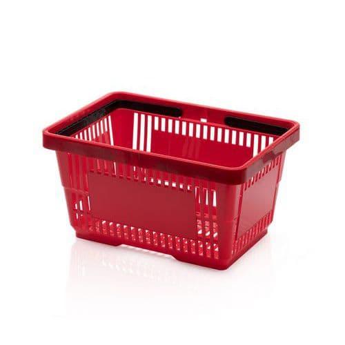 Plastový nákupní košík, červený