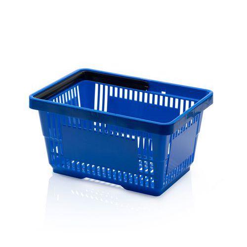 Plastový nákupní košík, modrý