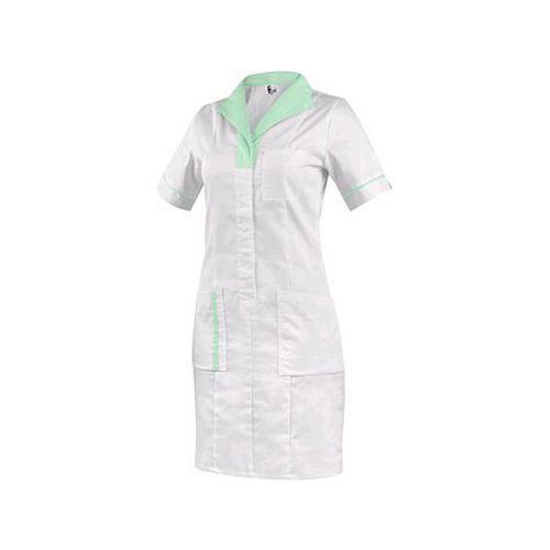 Dámské šaty CXS BELLA bílé se zelenými doplňky, vel. 50