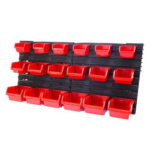 Ekobox plastový, sada 30 boxů, 2 panely, 800 x 195 x 400 mm