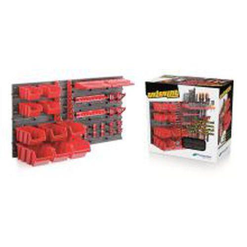 Ekobox plastový, sada 10 boxů, 2 panely a 2 držáky, 800 x 195 x 400 mm