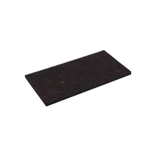 TOPTRADE povrch náhradní, plsť hnědá, 250 x 130 x 10 mm, profi