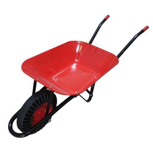 TOPTRADE kolečko stavební červenočerné, tažená korba, kolo bantam, 60 l