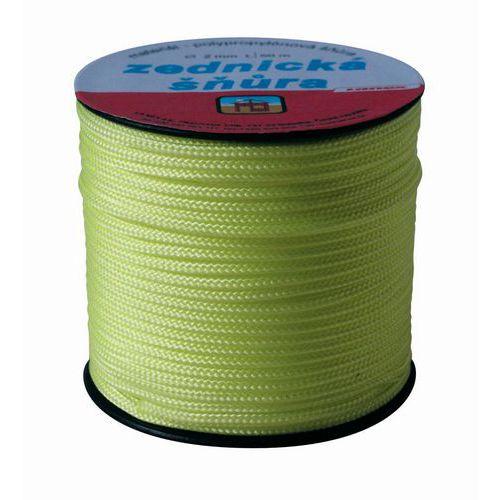 Šňůra pletená, PPV, zednická, bez jádra, průměr 1,8 mm x 50 m, Lanex