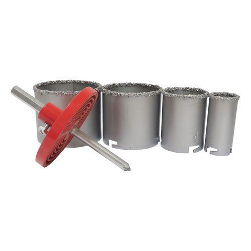 TOPTRADE korunky vykružovací, na keramickou dlažbu, 33/53/73/83 mm