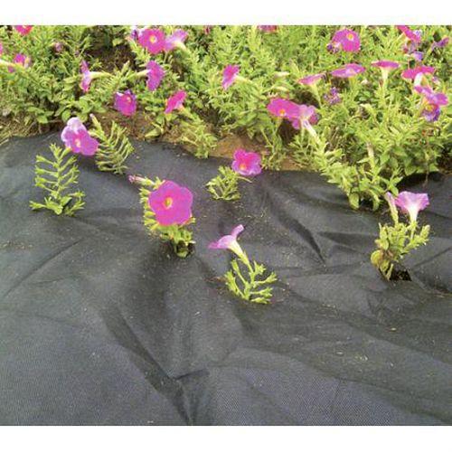 Textilie černá, netkaná, propustná, role, 0,9 x 10 m, 50 g / m2