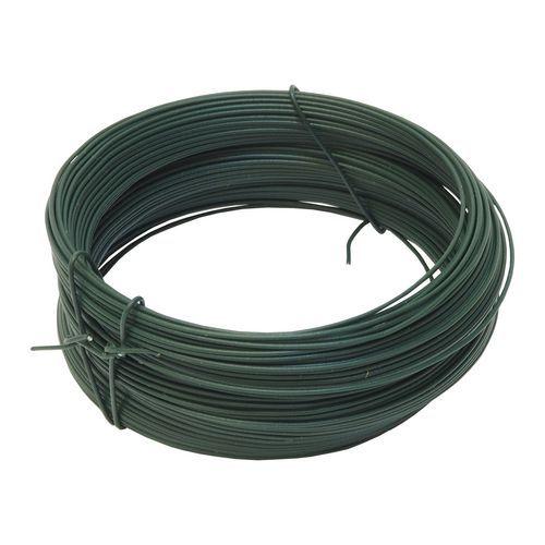 TOPTRADE drát vázací, poplastovaný, zelený, průměr 2 mm / 50 m