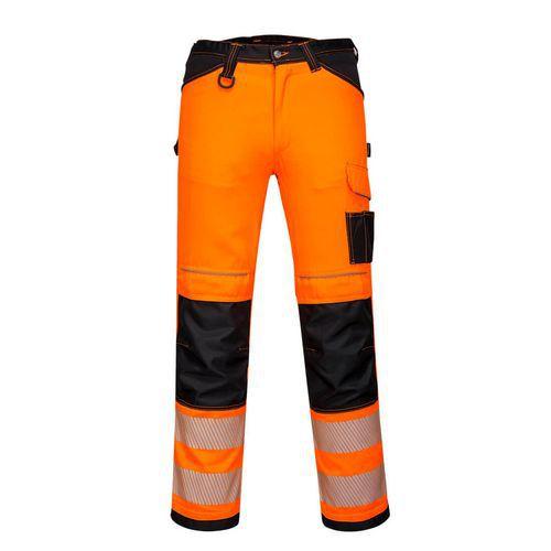 Dámské stetchové pracovní kalhoty PW3 Hi-Vis, černá/oranžová