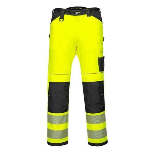 Dámské stetchové pracovní kalhoty PW3 Hi-Vis, černá/žlutá