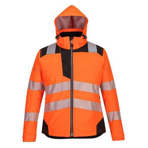 Dámská zimní bunda PW3, černá/oranžová