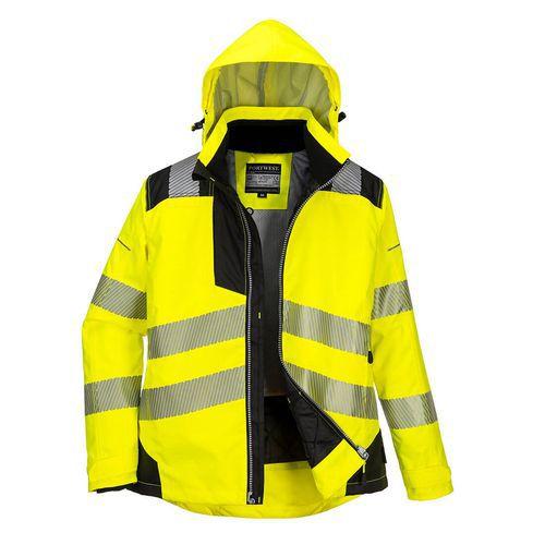 Dámská zimní bunda PW3, černá/žlutá, vel. XXXL