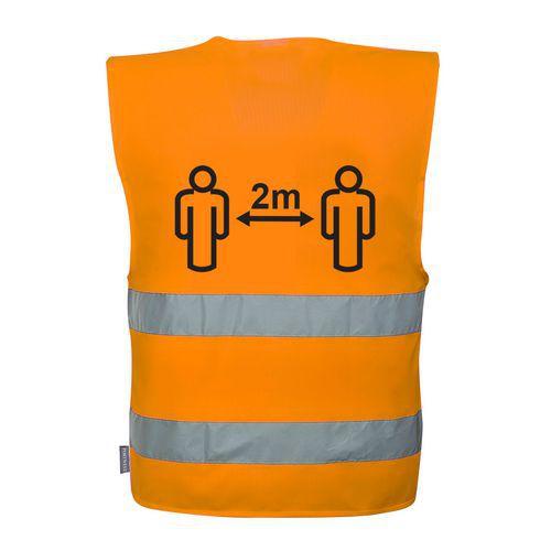 Hi-Vis Social Distancing Vest 2m, oranžová