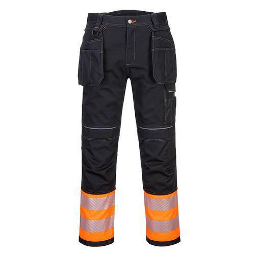 Kalhoty Holster PW3 Hi-Vis Třída 1, černá/oranžová