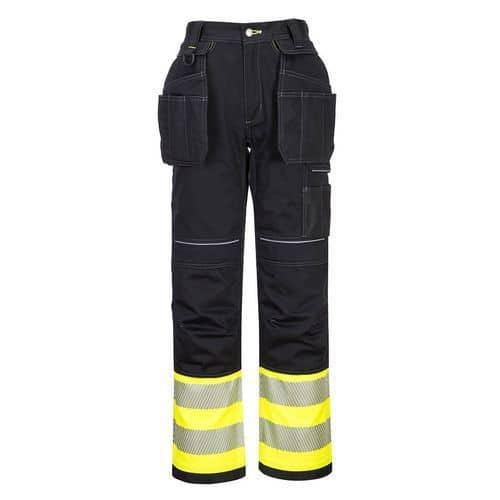 Kalhoty Holster PW3 Hi-Vis Třída 1, černá/žlutá