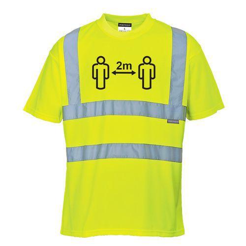 HiVis tričko společenský odstup, žlutá