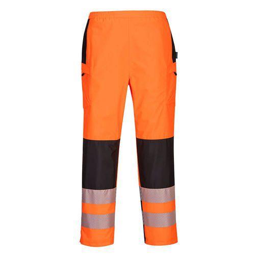Dámské kalhoty do deště PW3 Hi-Vis, černá/oranžová