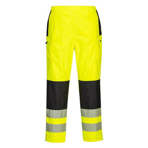 Dámské kalhoty do deště PW3 Hi-Vis, černá/žlutá